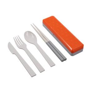 Posate – bachette Go Out arancioni – bianco
