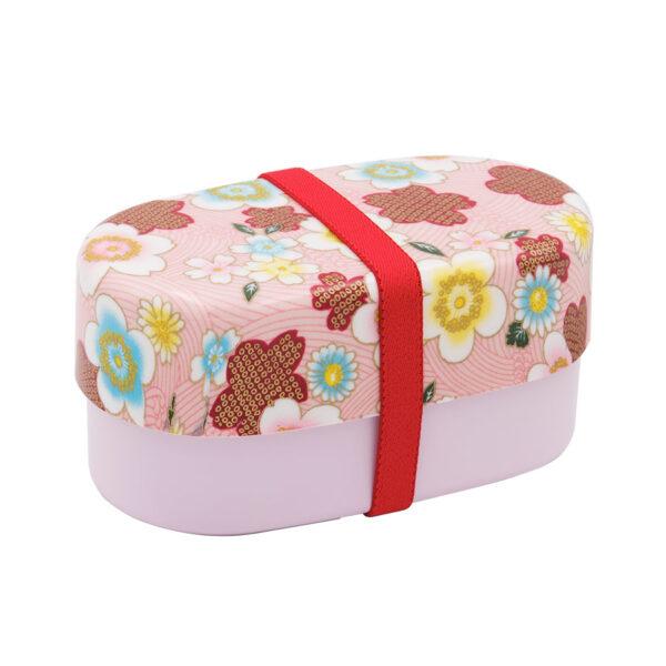 Bento-Box-Chiba-830 ml pink flower 2